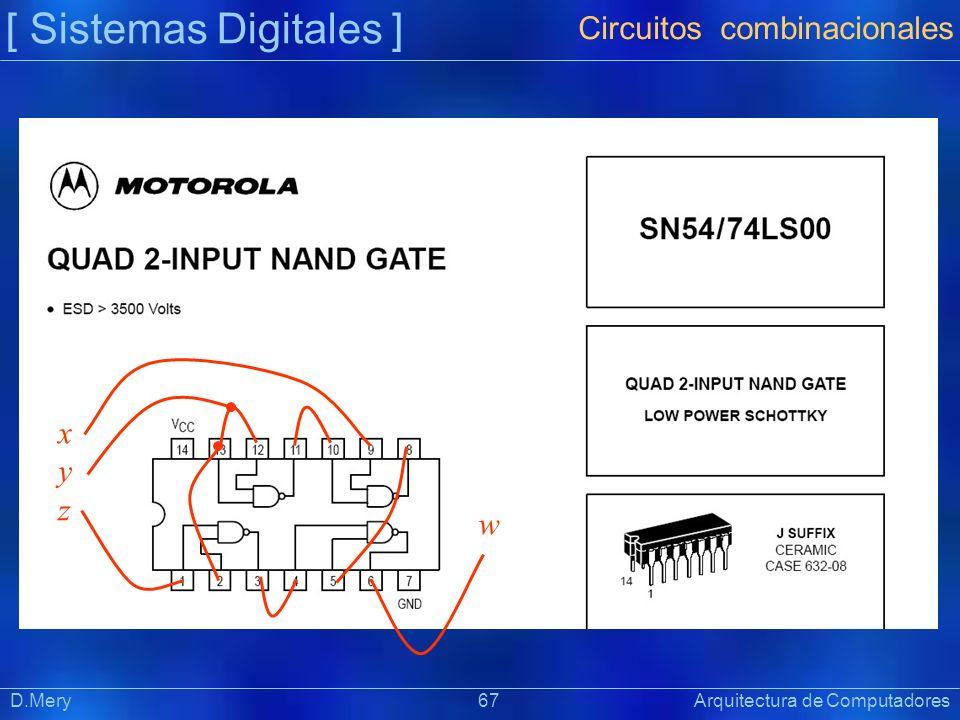 [ Sistemas Digitales ] Circuitos combinacionales x y z w